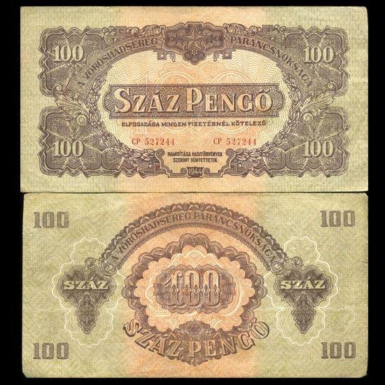 1930 Hungary 100 Pengo Note Hi Grade Scarce
