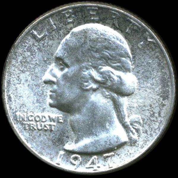 1947 Washington 25c MS64