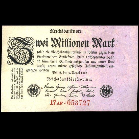 1923 Germany 2m Mark Note Hi Grade
