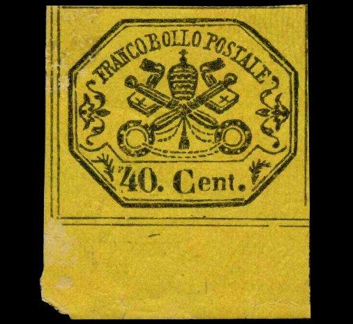1867 Papal States 40b Stamp MINT Hinged