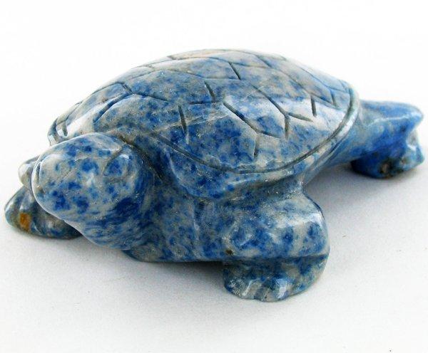 96gm Carved Lapis Turtle
