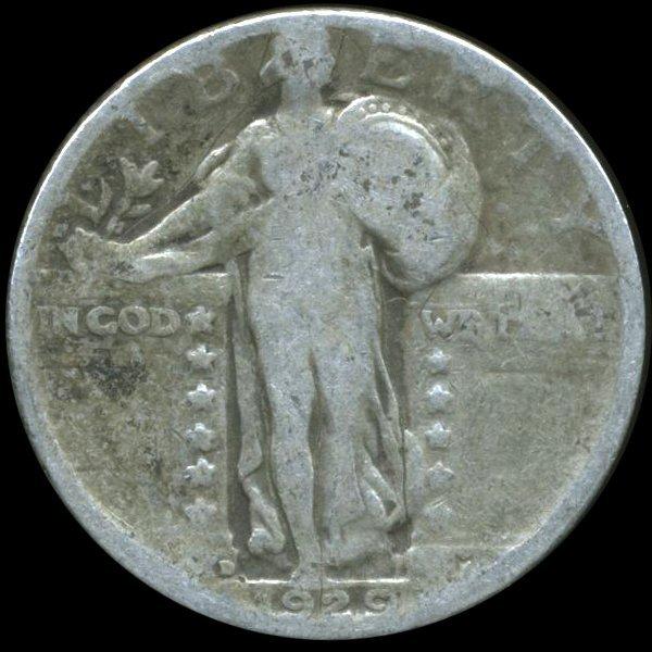 1929D Standing Liberty Quarter Circulated