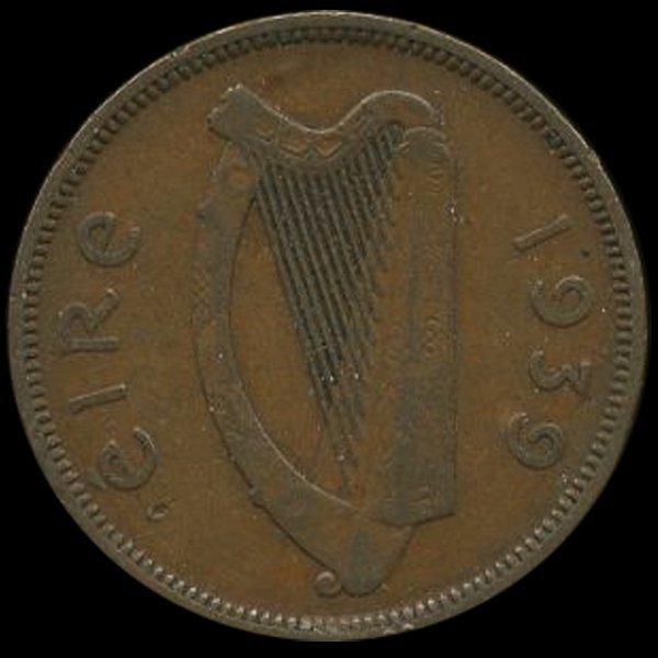 1939 Ireland 1/2p XF Scarce