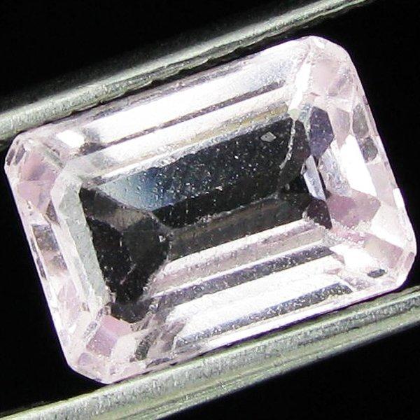3.85ct Emerald Cut Blush Pink Afghan Kunzite