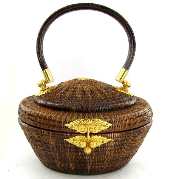 Finely Hand-woven Lipao Silver Plate Handbag