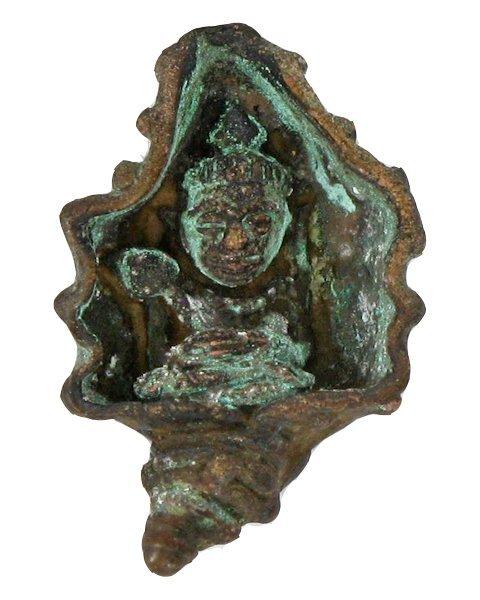 Antique Thai Bronze Buddha Bangkok Amulet Wat Sutat
