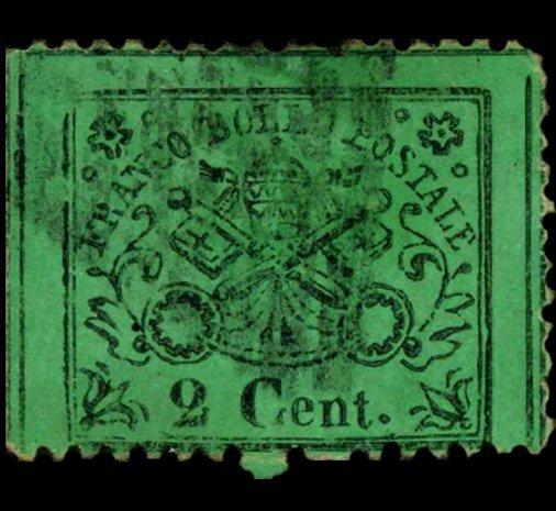1868 Papal States 2c Stamp