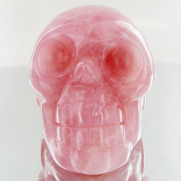 1460ct Hand Carved Rose Quartz Skull