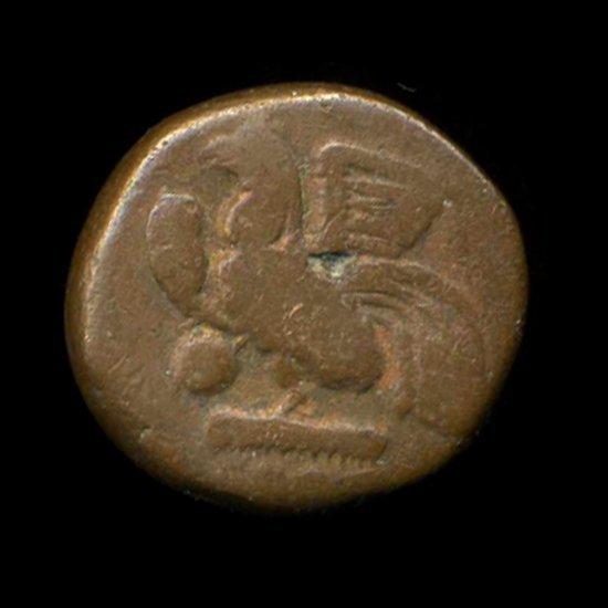 1800s Indo-French Bronze Coin Hi Grade