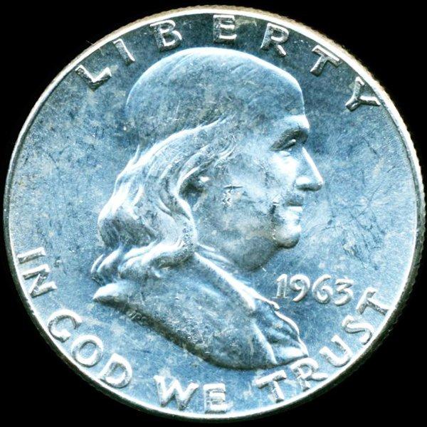 1963 Franklin Half MS64+/65+