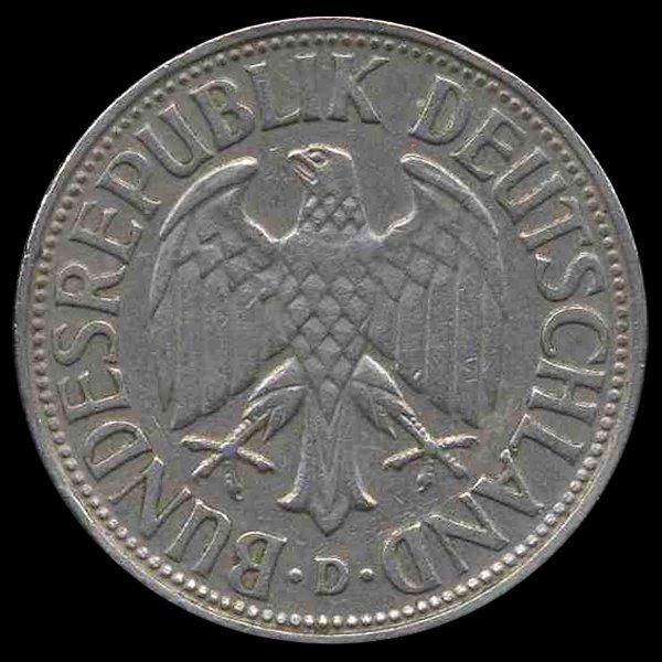 1954D Germany 1 Mark Hi Grade Scarce