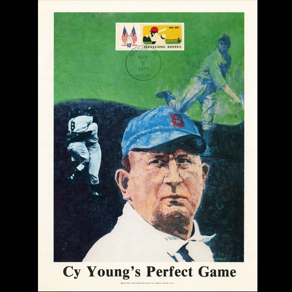 1979 UP Comm Cover Cy Young 75 yrs Perfect Game