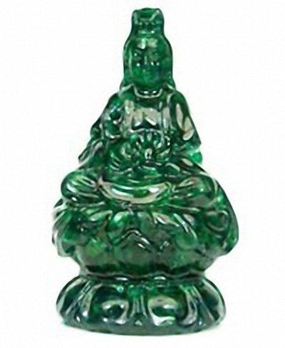 500ct Kwan Yin Statue Green Sapphire