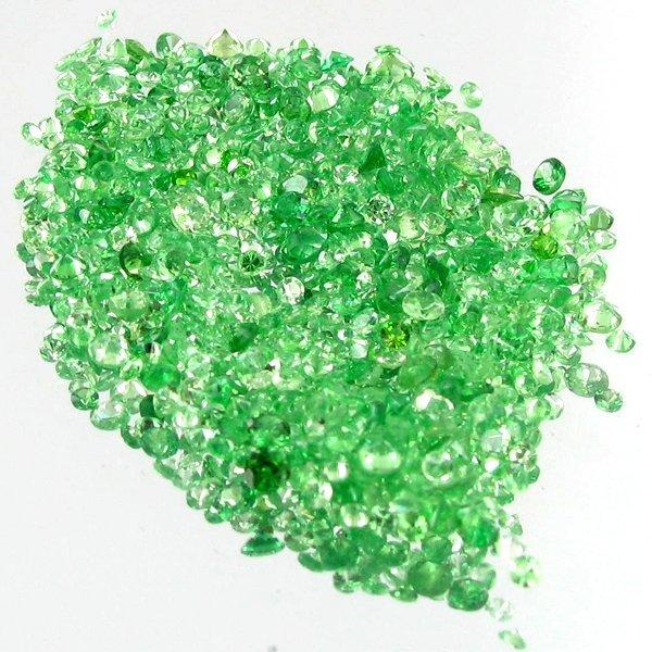 1ct Green Tsavorite Garnet Round Cut Parcel