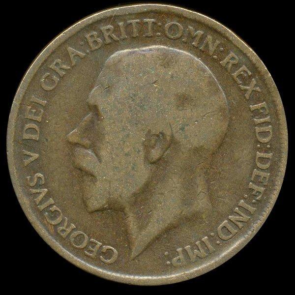 1919H British Geo V 1p Scarce MINT F/VF