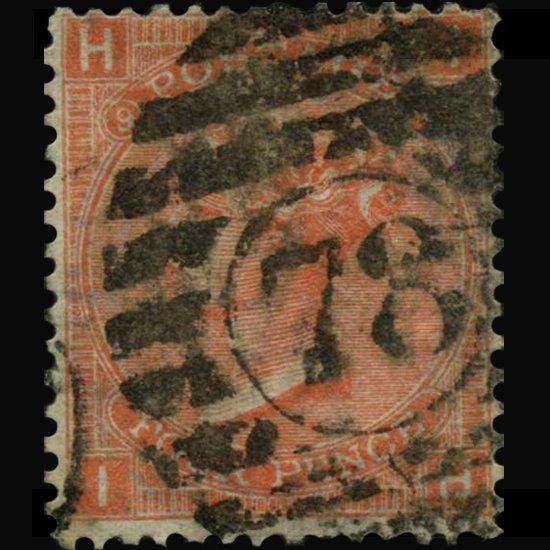 1865 Britain 4p Victoria Stamp