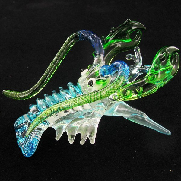 Handcrafted Blown Glass Crawfish