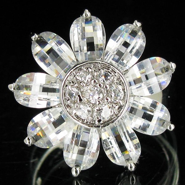 32.91twc Lab Diamond White Gold Vermeil/925 Ring