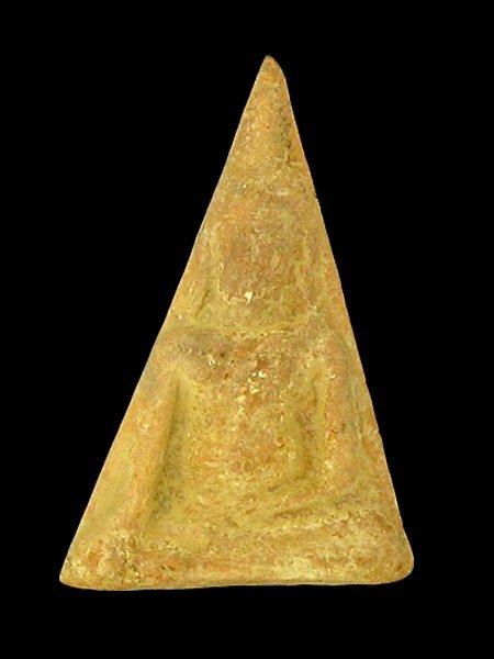 Antique Thai Clay Amulet 1960s Prat Nong Paya
