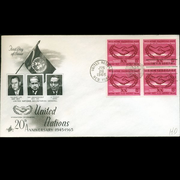 1965 UN First Day Postal Cover