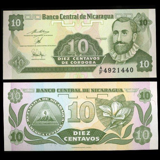1991 Nicaragua 10c Crisp Uncirculated Note