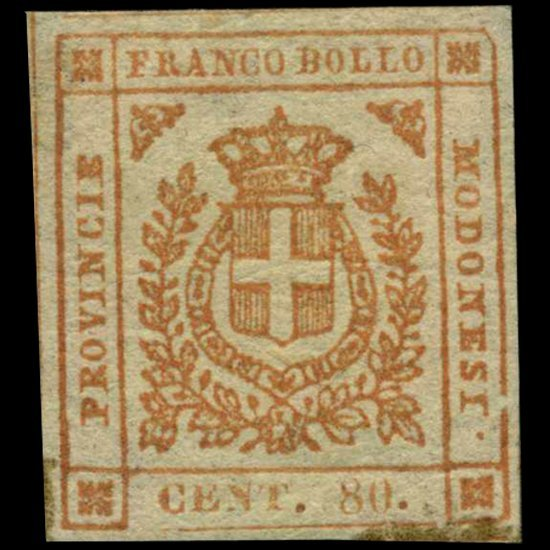1859 Modena 80c Stamp MINT Hinged