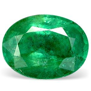 0.1ct. Natural Green Colombian Emerald Oval Cut