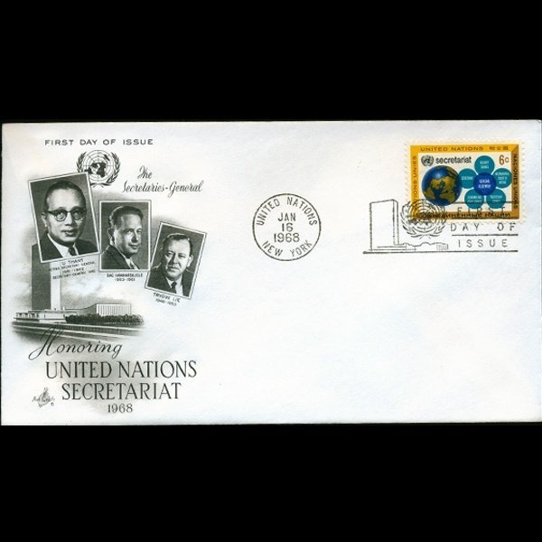 1968 UN First Day Postal Cover