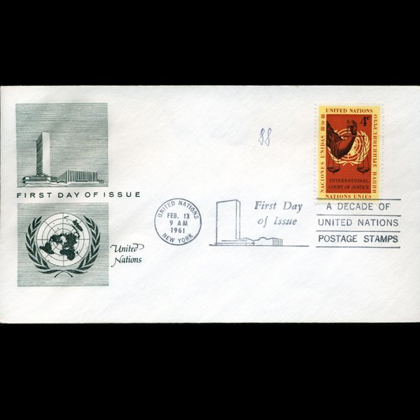 1961 UN First Day Postal Cover