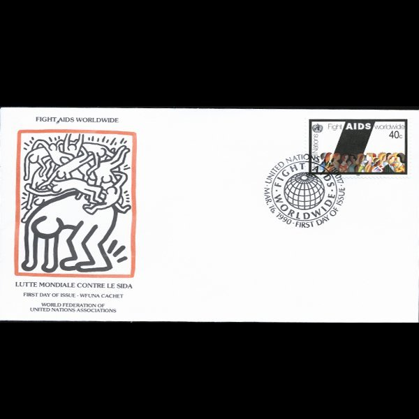 1990 UN First Day Postal Cover