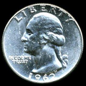 1962 Washington 25c MS65