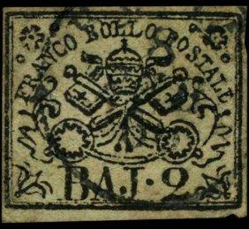 1852 Papal States 2b Stamp