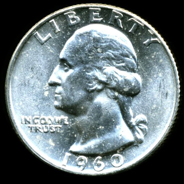 1960D Washington 25c MS65