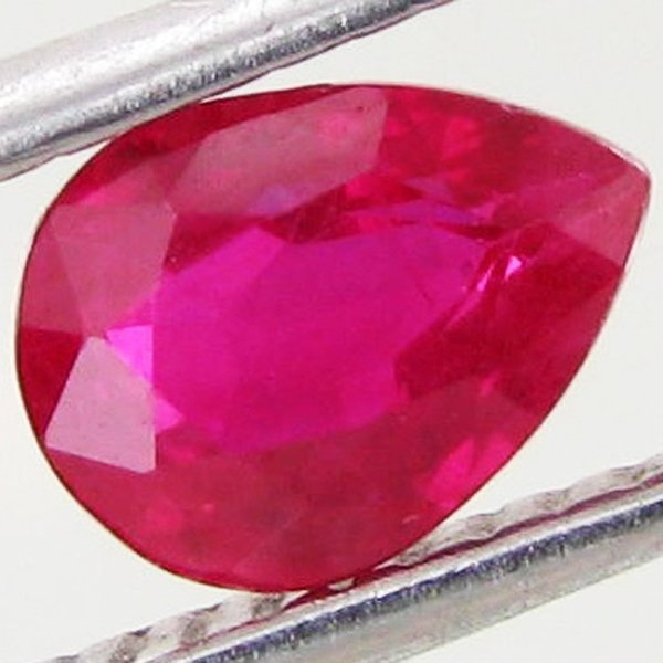 1.03ct Ruby Pear Burma Heated Only