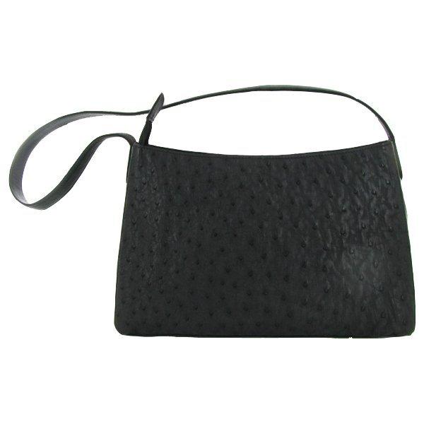 Ostrich Skin Shoulder Strap Handbag Purse