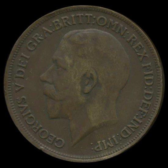 1919 British George V Penny XF