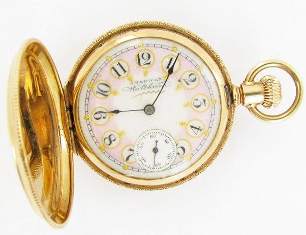 American Walthan Pocket Watch Solid 14k Case