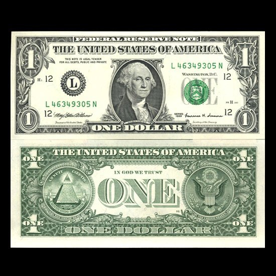 1999 $1 San Fran FRB Note Sequence Pair Crisp Unc