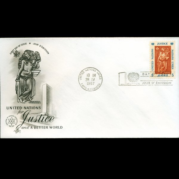 1967 UN First Day Postal Cover