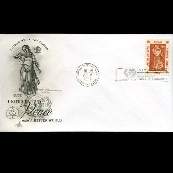 1966 UN First Day Postal Cover