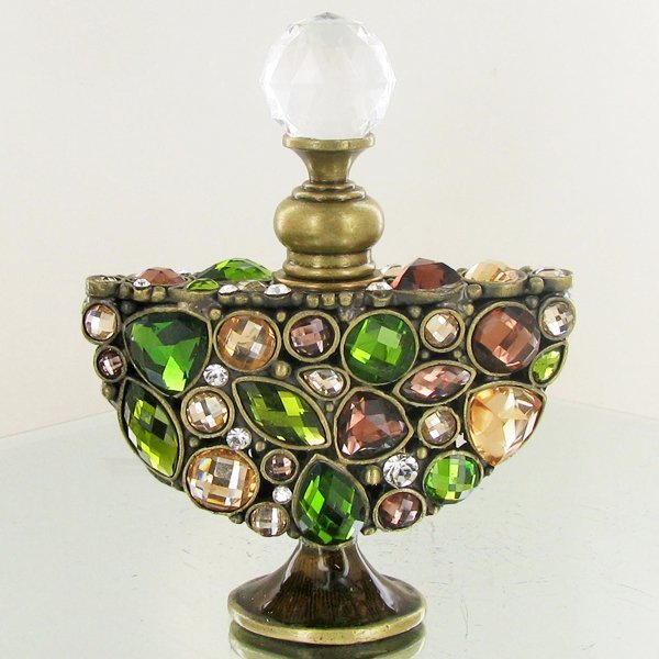Enameled Handcrafted Perfume Bottle