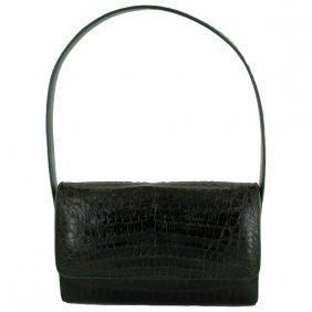 Crocodile Shoulder Strap Handbag Purse