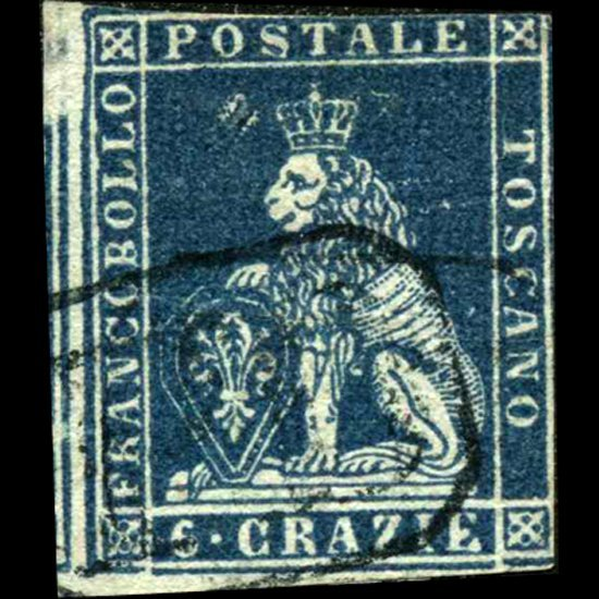 1851 Tuscany 6g Stamp