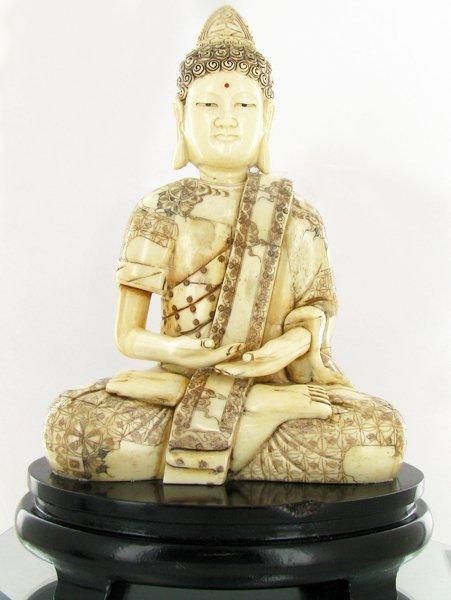 Handcarved Bone Chinese Buddha