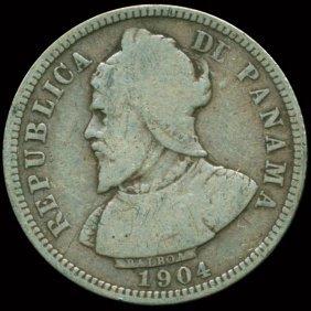 1904 Panama Silver 10c Balboa F