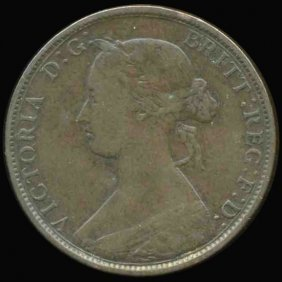 1862 British Victoria Halfpenny XF/VF