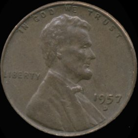 1957D Lincoln 1c XF Overweight ERROR