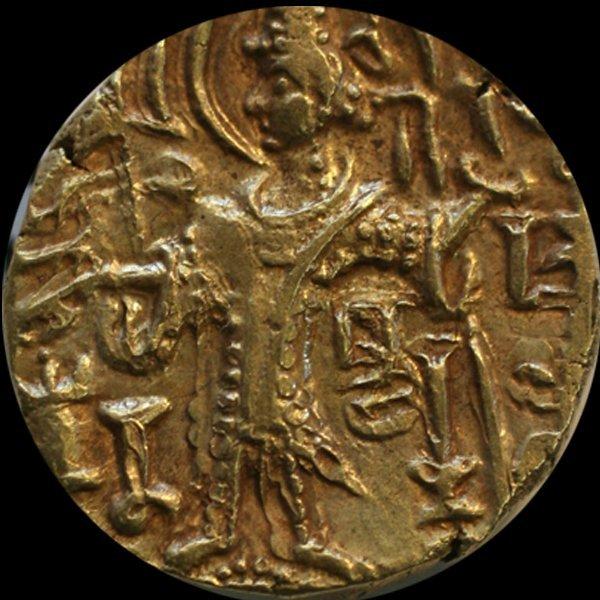 330AD India Kushan Shaka Gold AU+ 7.63gm