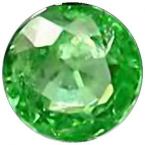 2mm Round Cut Top AAA Green Garnet Tanzania