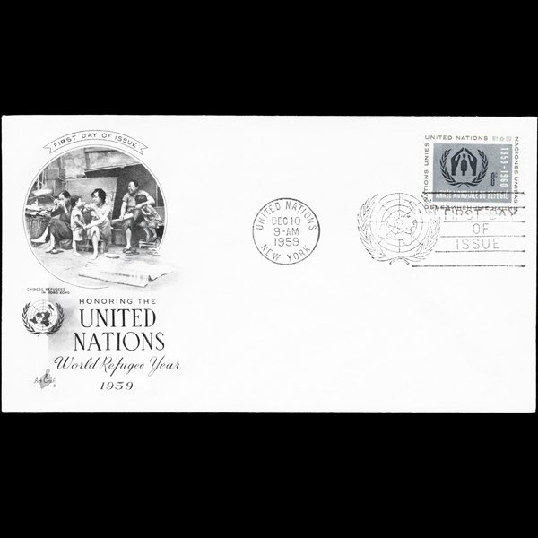 1959 UN First Day Postal Cover